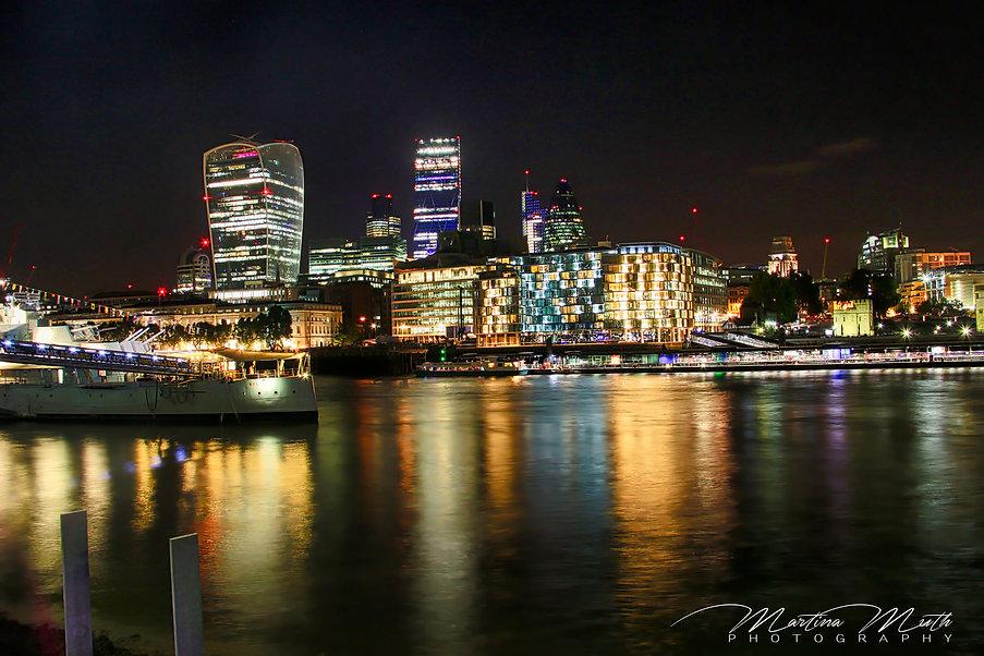 Nachtaufnahme City of London