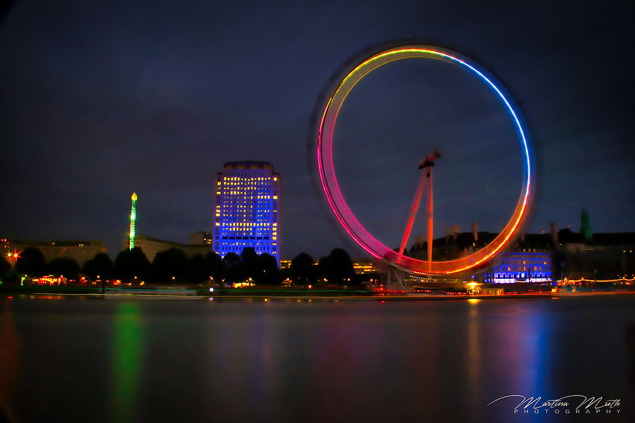 Nachtaufnahme London Eye