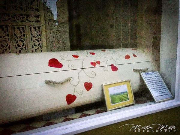 a coffin in Totnes