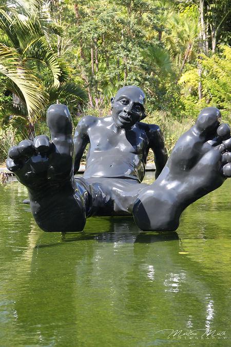 Bigfoot im Botanischen Garten in Miami Beach
