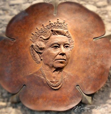 Great Hall Winchester  Bronzeskulptur zu Ehren des Diamant-Jubiläums von Königin Elisabeth II.