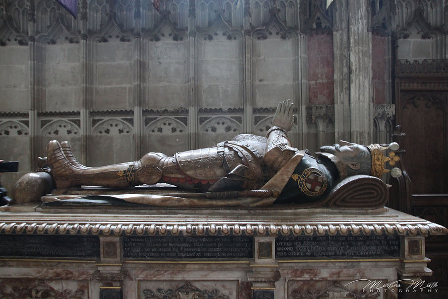 Effigy of Ambrose Dudley on his tomb in the Beauchamp Chapel