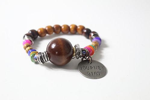 Natural Stones & Wood Beads Boho Bracelets