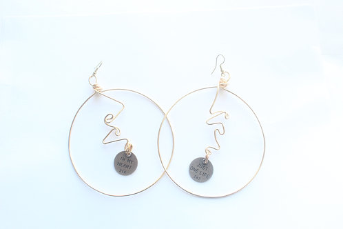 Charm Hoop Wire Earrings