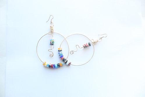 So Many Colors Boho Wire Earrings
