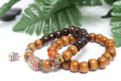 Jade Agate Beaded Bracelet Set