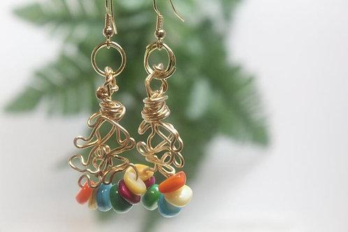 Multicolored Dangle Boho Earrings