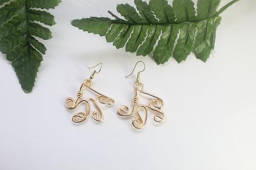 Fun Wire Art Dangle Earrings