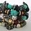 Thumbnail: Turquoise Howlite, Rondelle & Wood Beaded Unisex Braclets