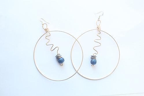 Ziggy Wire Art Boho Earrings