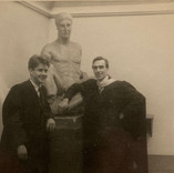 Hamish Reid and David McClure at their Diploma Exhibition at Edinburgh College of Art in 1951