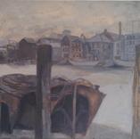 Thames Barges, 1950  Gouache