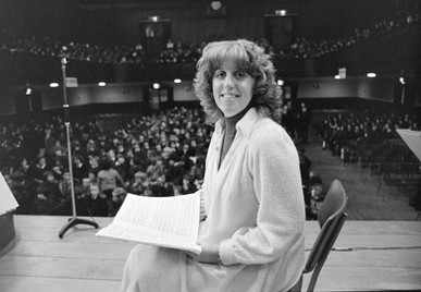 Linda Ormiston giving performance with the Chamber Orchestra, 1st December 1978