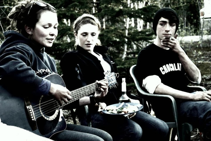 Campfire Sing-a-long while tree planting in 2011