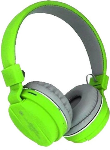 meetesh sh12 Bluetooth Headset  (Green, On the Ear)