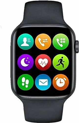 O-KURE T 55 Plus Series 6 Smartwatch Smartwatch  (Black Strap, Free Size)