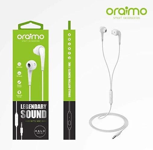 ORAIMO Oriamo earphone e-21 Wired Headset  (White, In the Ear)