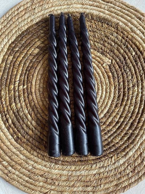 Kaarsen Swirl - Zwart