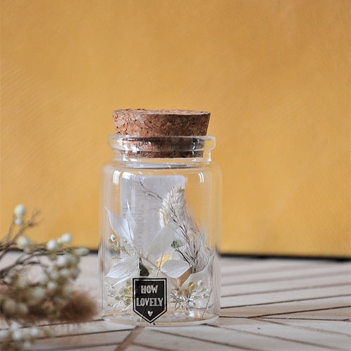 Buisje met droogbloemen - Wit XS