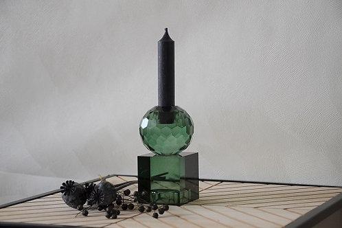 Kandelaar Crystal art Squared - Medium Green