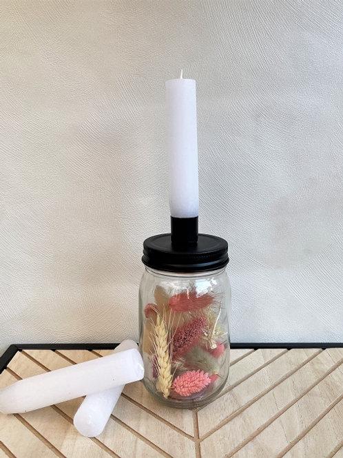 Candle Jar - Mason White