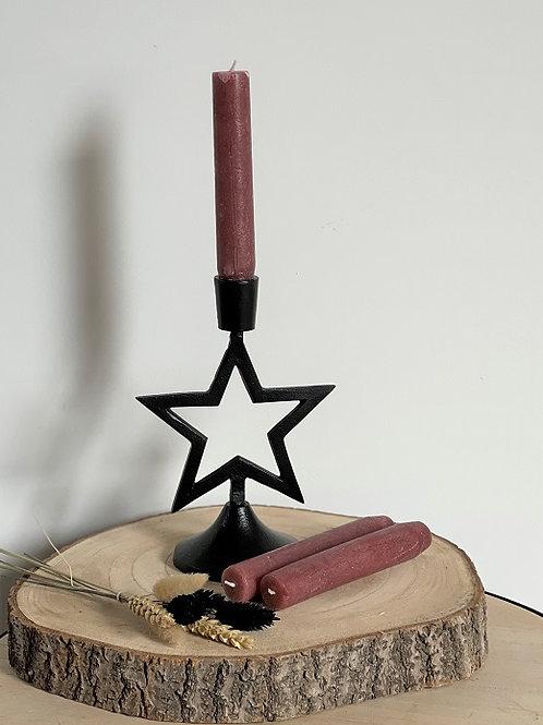 Kaarsenhouder - Kerstster