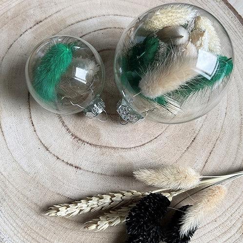 Handgevulde kerstbal - Groen