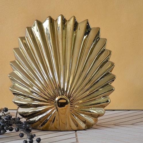 Gouden palm blad vaas L