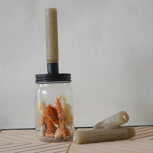 Candle Jar - Mason Taupe