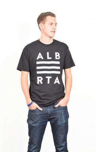 Alberta Prairies Black T-Shirt Mens