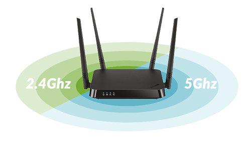 Router D-Link Wireless AC 1200 Router de doble banda (11a/b/g/n/ac) (DIR-822)