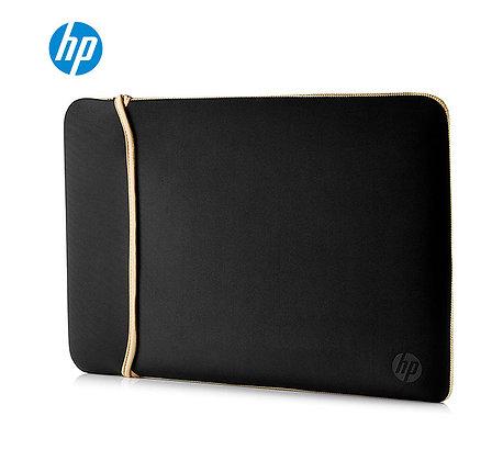 HP Inc 15.6'' BLKGOLD Chroma Pochette Reversible Sleeve, Negro