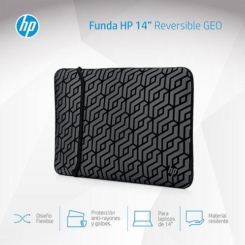 Funda Hp Notebook 14-Bulk Silver Geo Sleeve