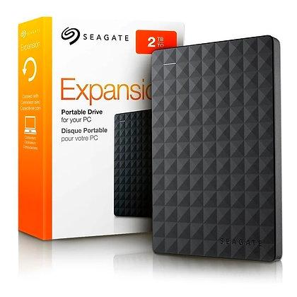 """Disco duro Externo Seagate Expansion - 2.5"""" - 2TB - USB 3.0 - Para Windows - Neg"""