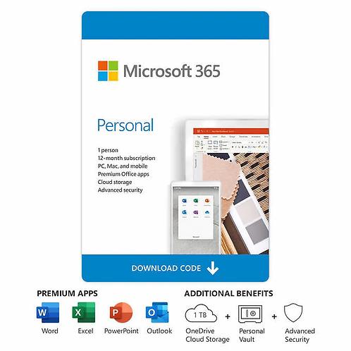 Microsoft 365 Personal | 1 Usuario | Suscripción licencia 1 año |