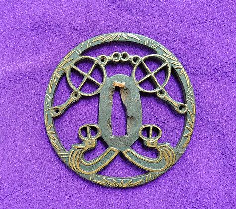 轡鎧透 平安城象嵌鍔