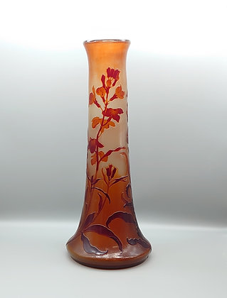 エミール・ガレ 作 草花図ガラス花瓶