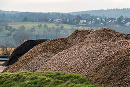 Green waste for the production of bark m