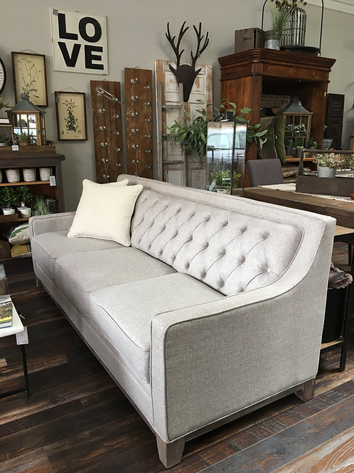 Linen Sofa with pillows