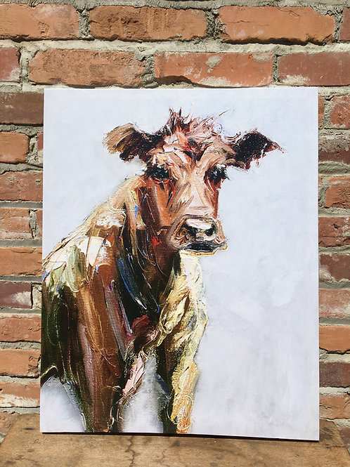 Canvas Cow Picture