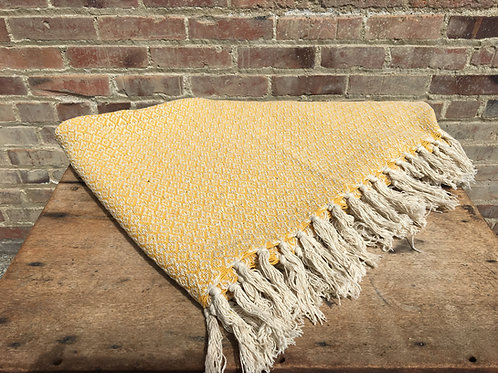 Light Mustard Throw Blanket