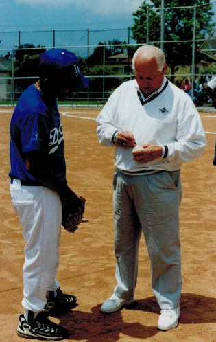 Tommy Lasorda at Opening Day