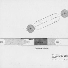 Cilindro che proietta due immagini opposte, 1968