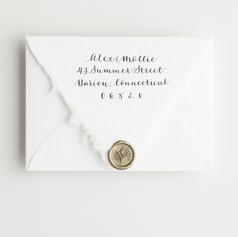 Ophelia Script Reply Envelope