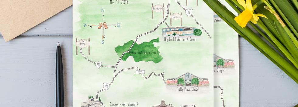 Elizabeth + Logan Map