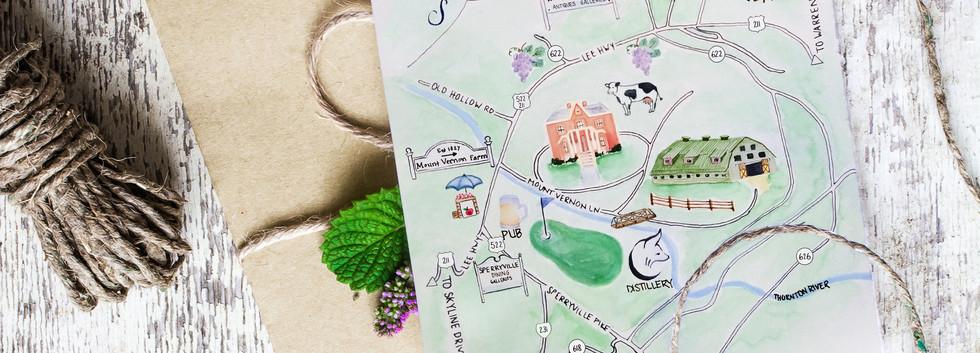 Susan + Cliff Map