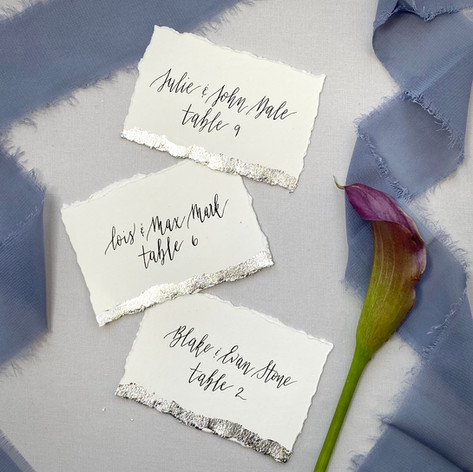 Silver Foil Scort Cards