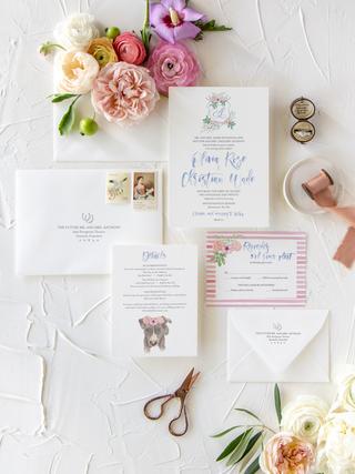 wedding-invitations-suite-custom-watercolor-crest-wedding-stationery-pink-blue-2-lionhead-