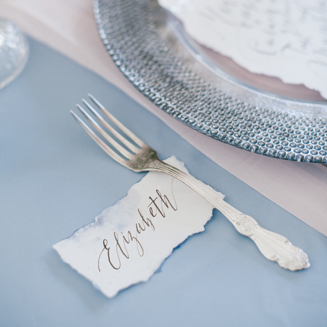 Handmade Paper Place Setting