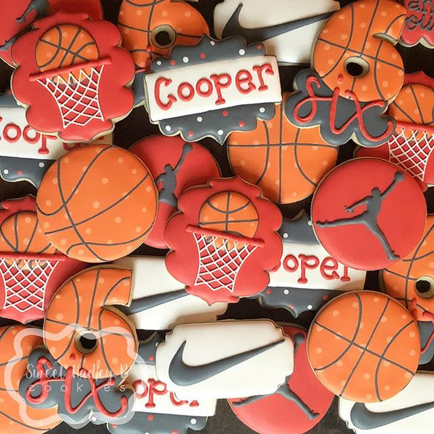 Cooper had a basketball themed 6th birth